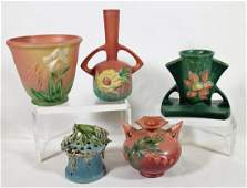 5 PC ROSEVILLE POTTERY COLLECTION