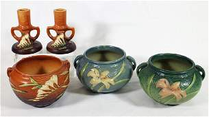 ROSEVILLE POTTERY FREESIA & WATER LILY