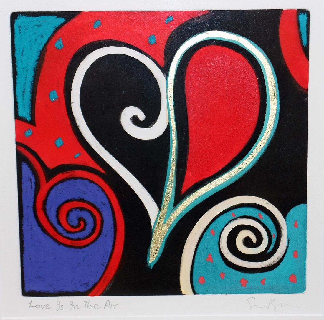 """SIMON BULL """"LOVE IS IN THE AIR"""" PAINTING - 2"""