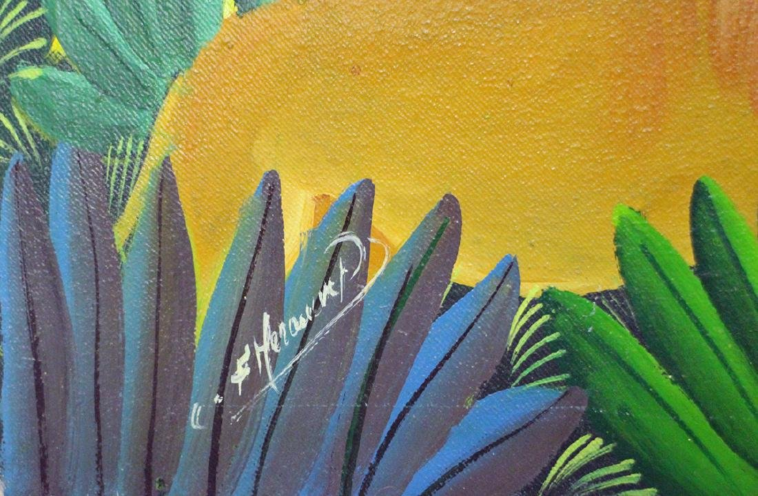 HAITIAN JUNGLE PAINTING - 3