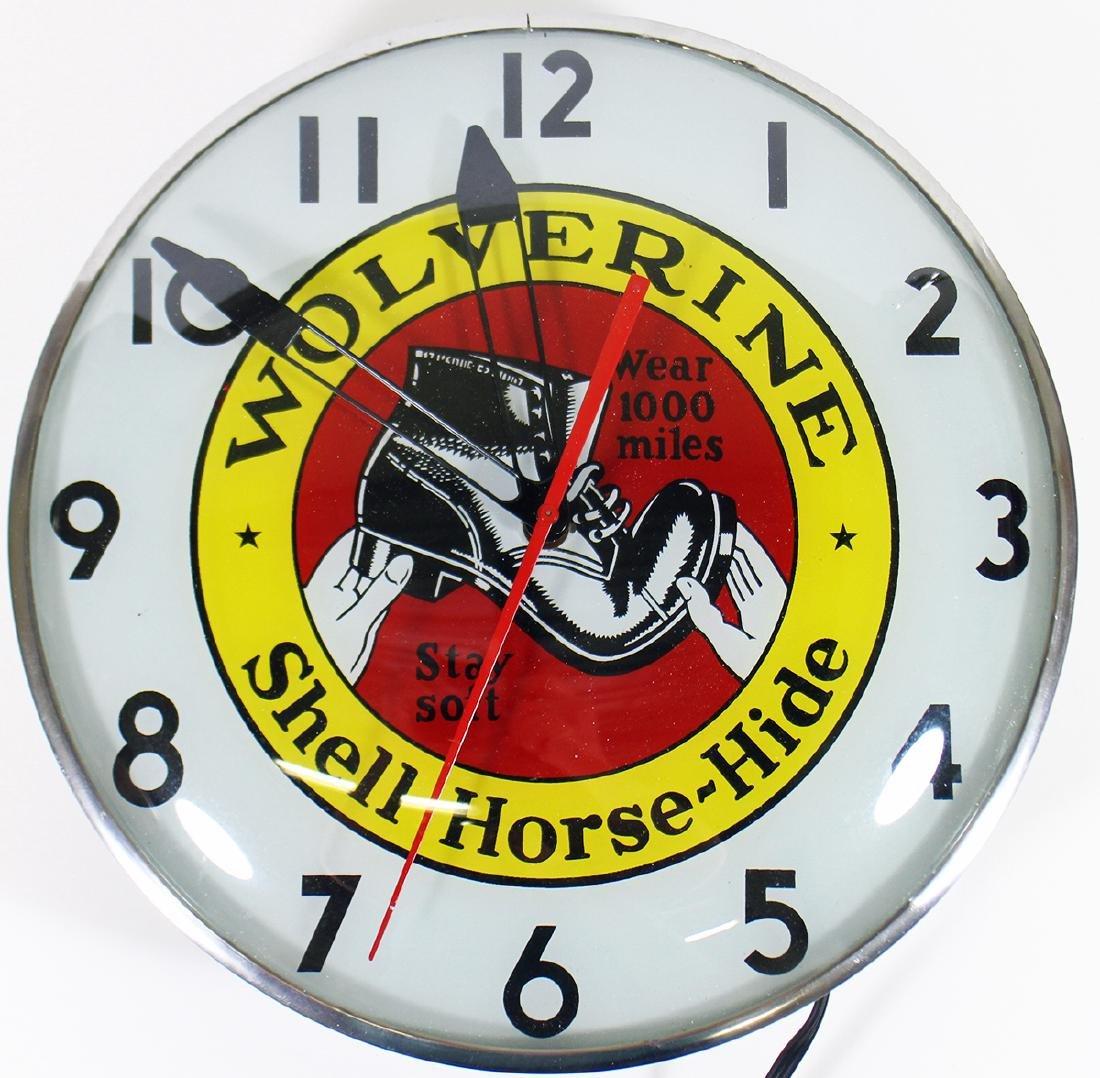 VINTAGE WOLVERINE ADVERTISING CLOCK