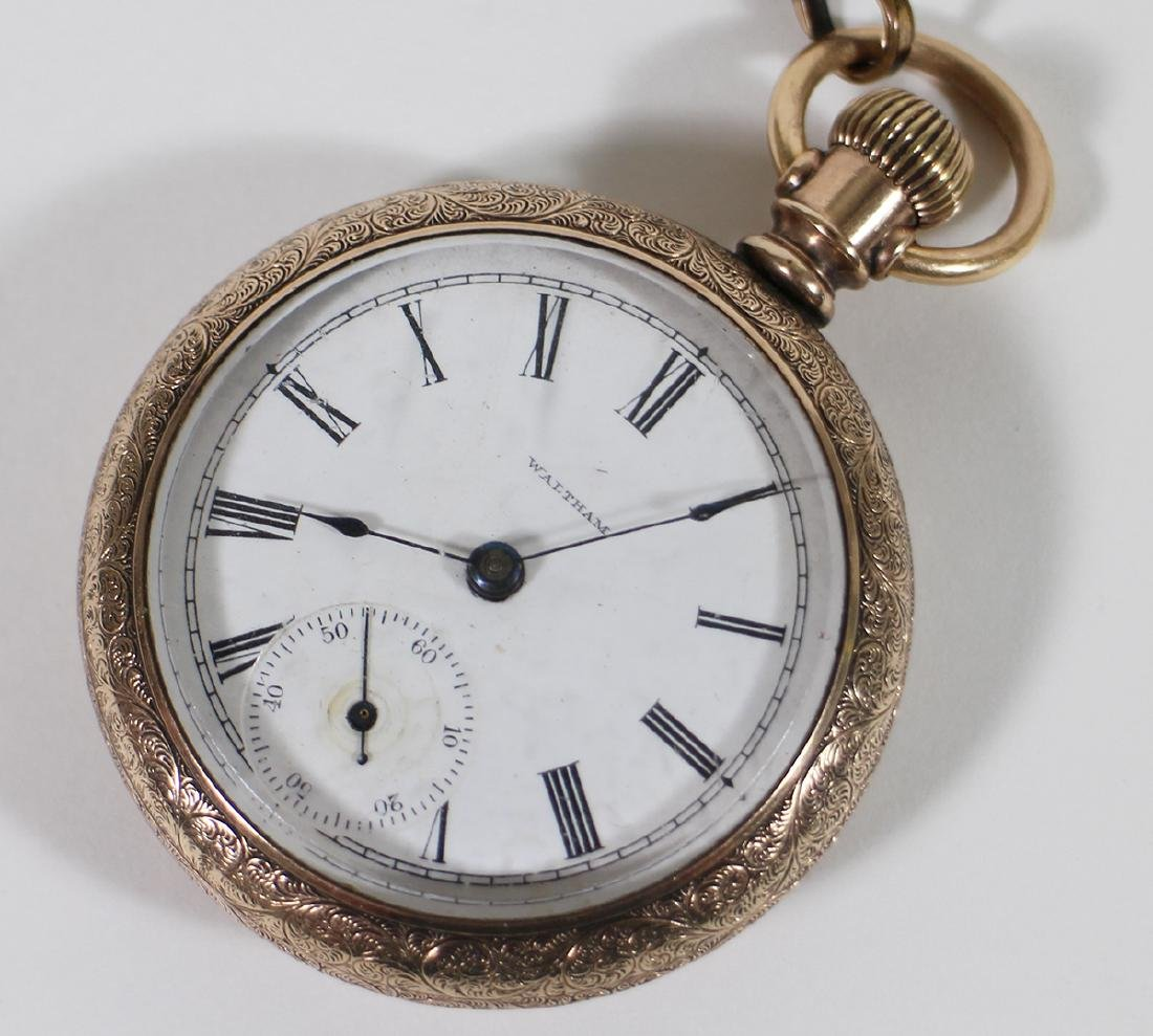 (3) POCKET WATCHES - WALTHAM, ELGIN, & MORE - 2