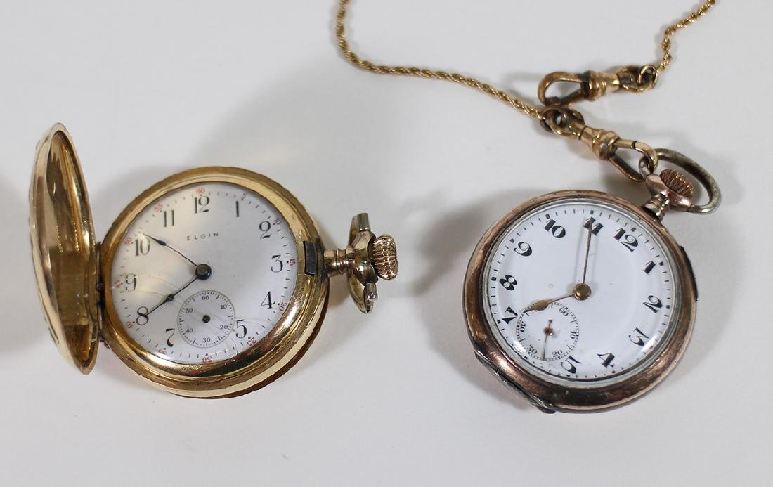 (3) POCKET WATCHES - WALTHAM, ELGIN, & MORE - 4