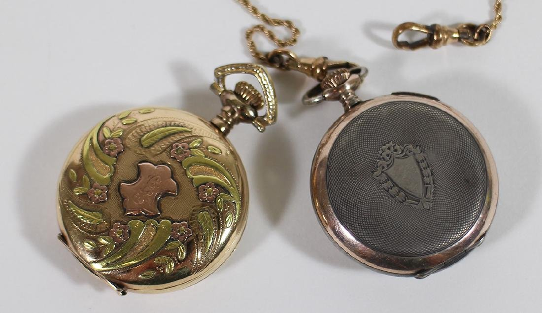 (3) POCKET WATCHES - WALTHAM, ELGIN, & MORE - 5