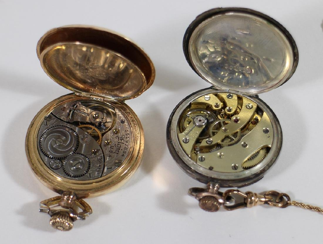 (3) POCKET WATCHES - WALTHAM, ELGIN, & MORE - 7