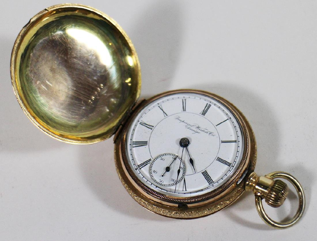 IMPERIAL WATCH COMPANY GOLD FILLED POCKET WATCH