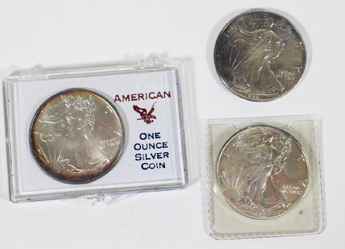 (3) .999 SILVER EAGLE COINS