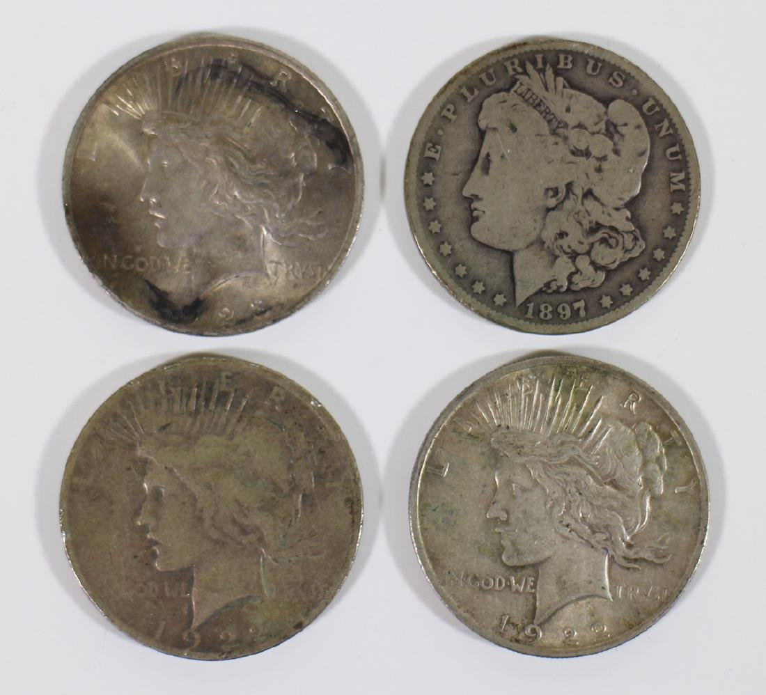 (4) SILVER DOLLAR COINS