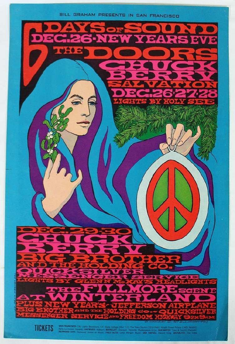 1967 THE DOORS NEW YEARS CONCERT POSTER