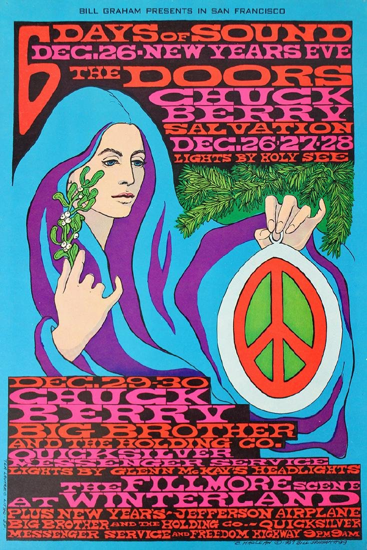 1967 THE DOORS NEW YEARS CONCERT POSTER - 2