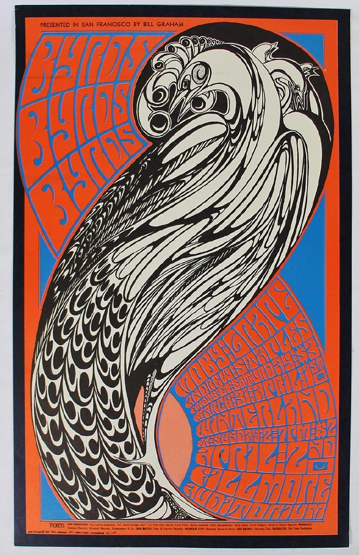 1967 THE BYRDS CONCERT POSTER