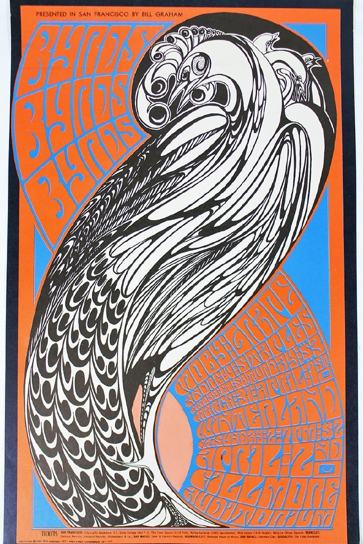 1967 THE BYRDS CONCERT POSTER - 2