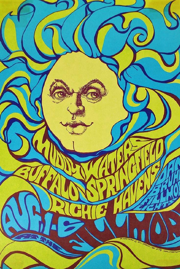 1967 BUFFALO SPRNGFIELD CONCERT POSTER - 2