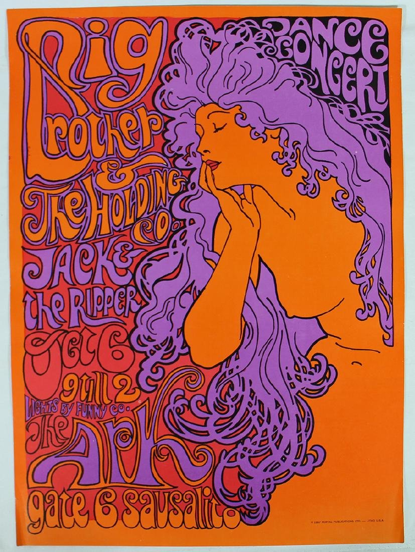 1967 BIG BROTHER SAUSALITO CONCERT POSTER