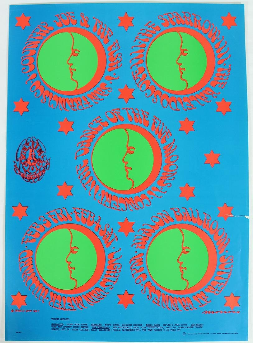 FD-46 FAMILY DOG FIVE MOONS POSTER