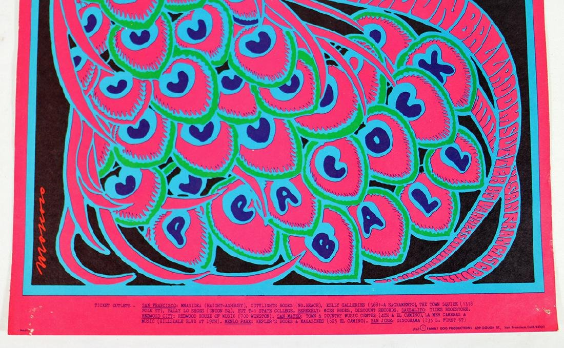 VICTOR MOSCOSO PEACOCK BALL 1967 CONCERT POSTER - 2