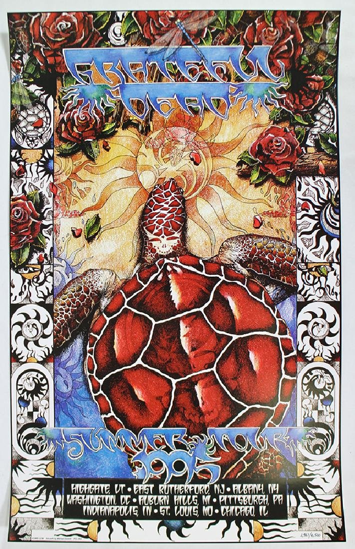 1995 THE GRATEFUL DEAD SUMMER TOUR POSTER