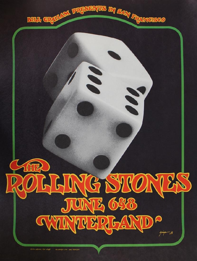 1972 ROLLING STONES CONCERT POSTER