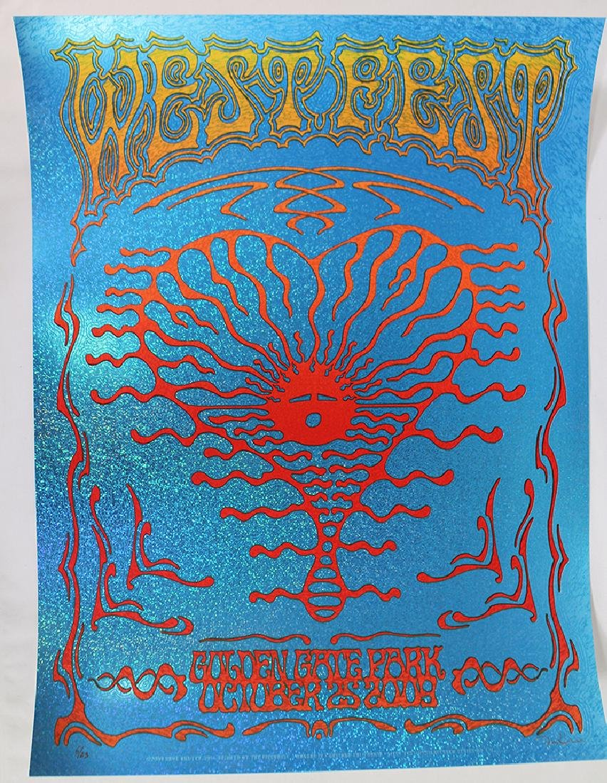 WEST FEST CALIFORNIA CONCERT POSTER