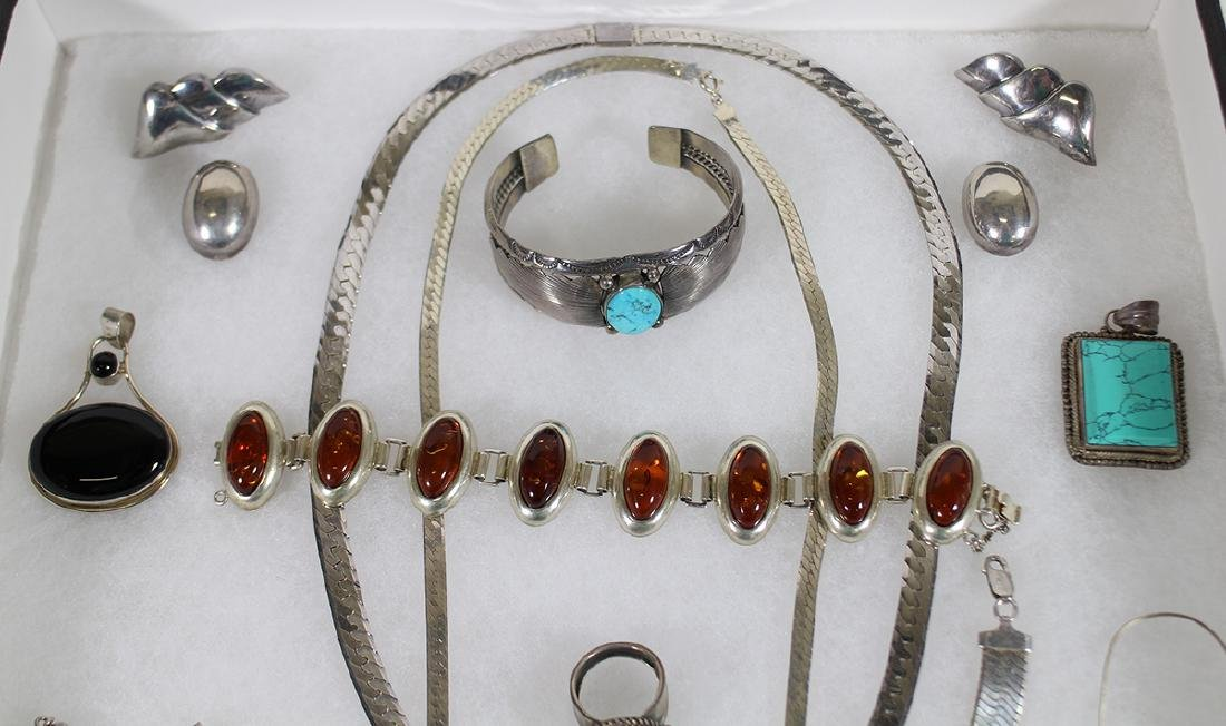 VINTAGE STERLING SILVER JEWELRY - 2