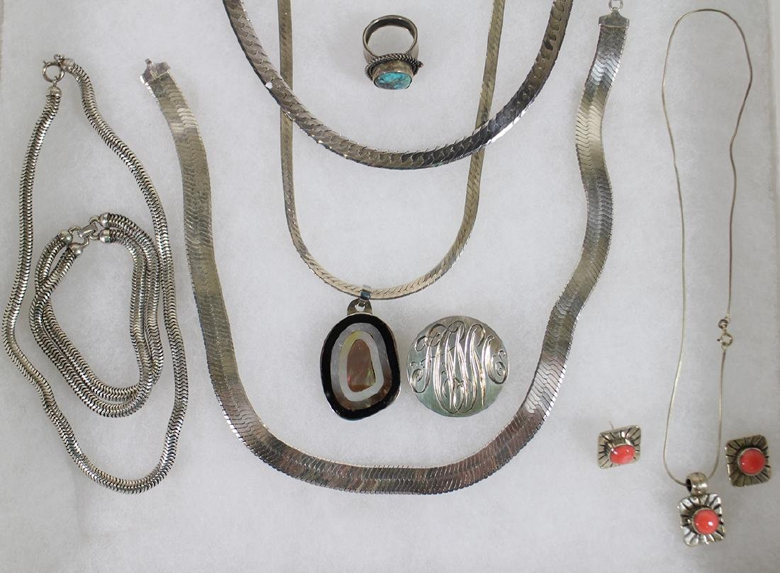 VINTAGE STERLING SILVER JEWELRY - 3