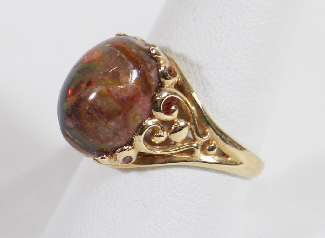 14KT GOLD CABOCHON OPAL RING - 3