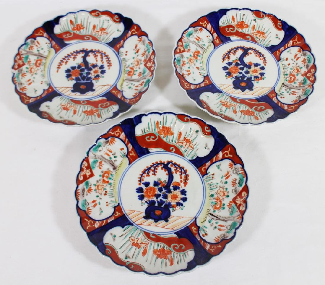 (3) 18th / 19th CENTURY JAPANESE IMARI PLATES - 2