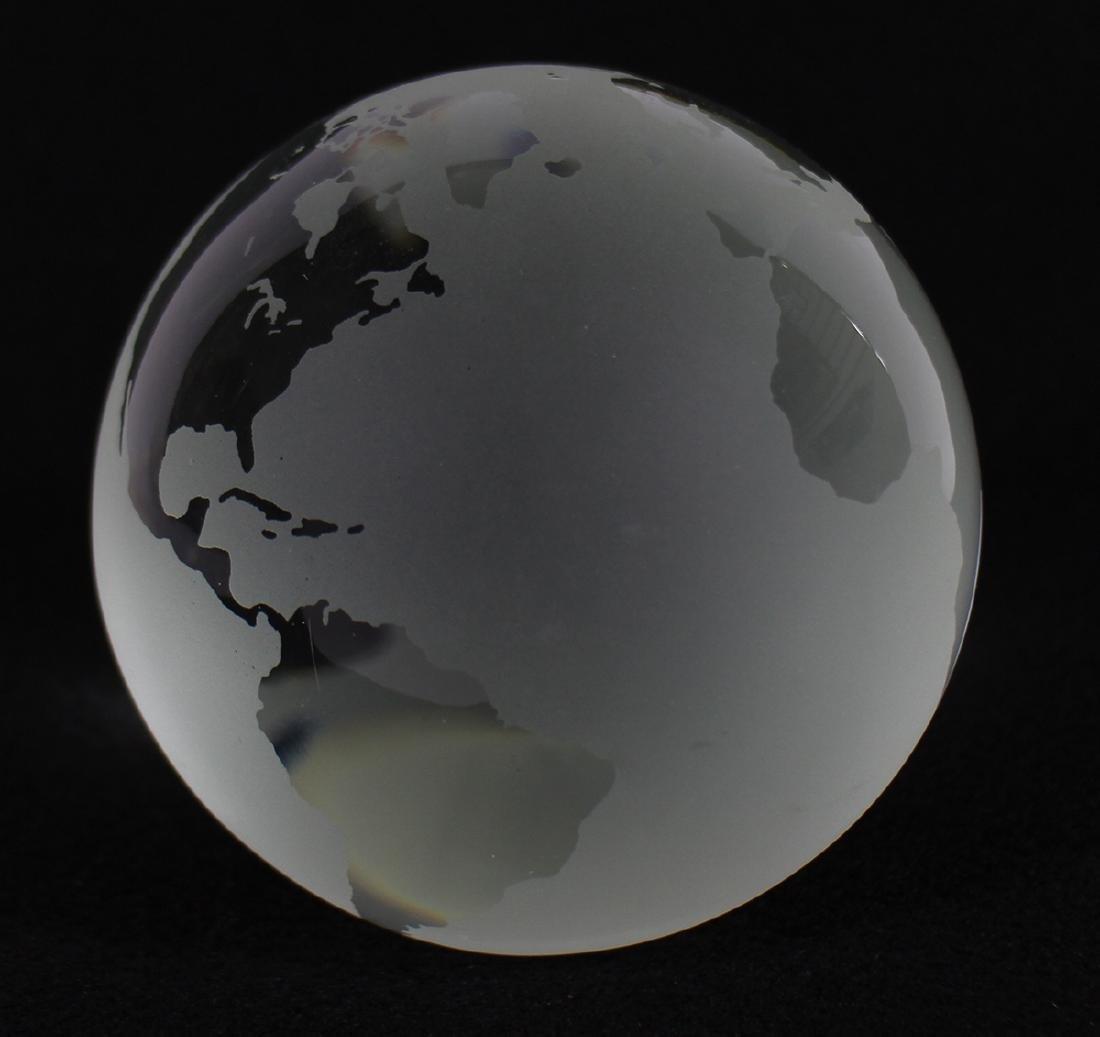 TIFFANY & CO WORLD GLOBE PAPERWEIGHT