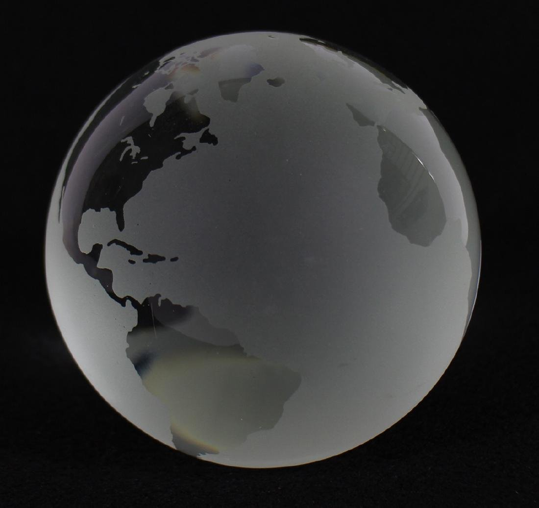 TIFFANY & CO WORLD GLOBE PAPERWEIGHT