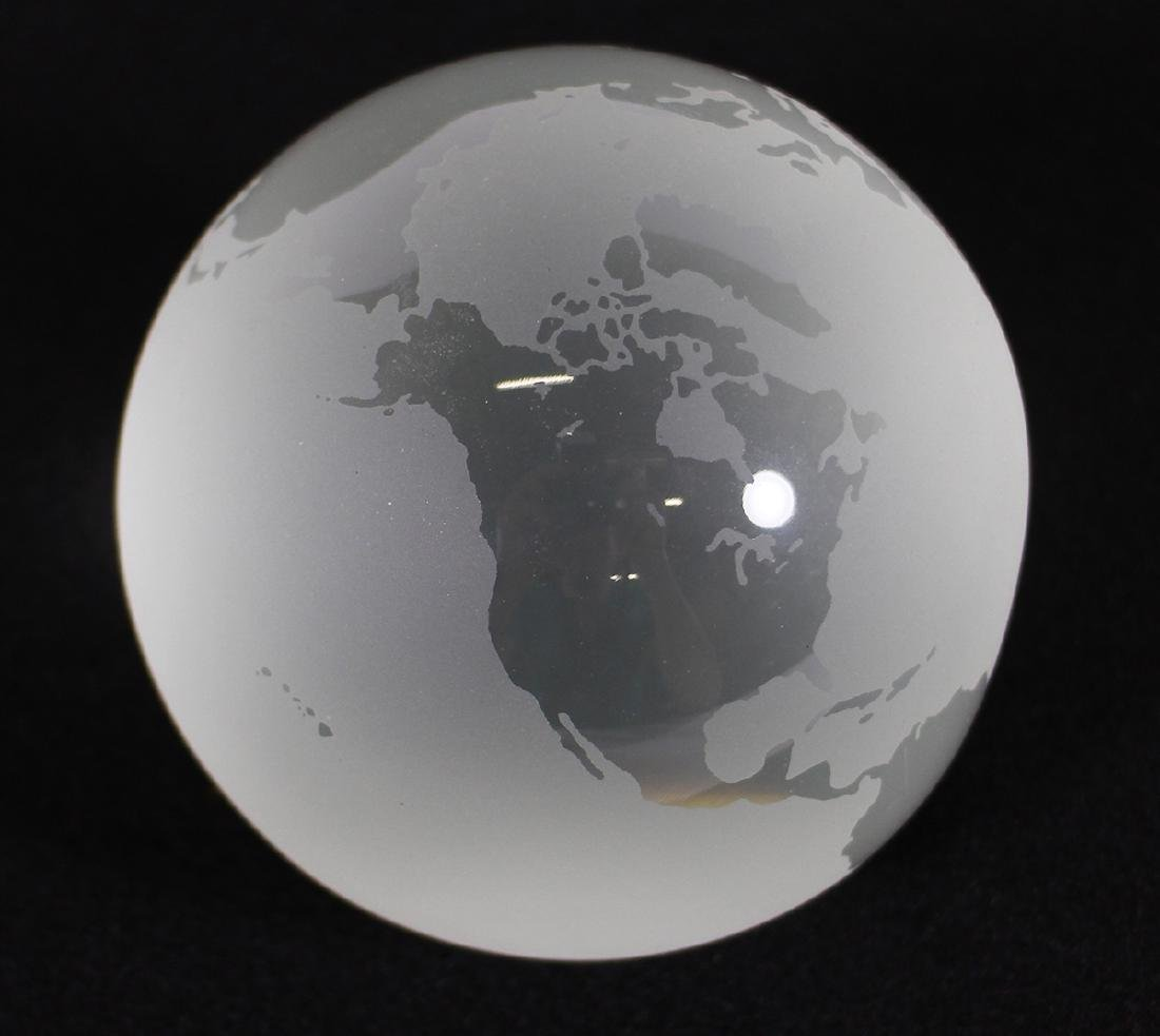 TIFFANY & CO WORLD GLOBE PAPERWEIGHT - 2