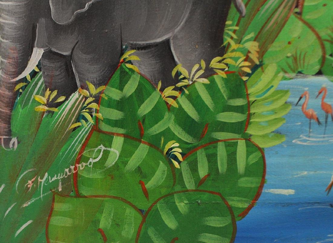 HAITIAN PAINTING - JUNGLE SCENE - 3
