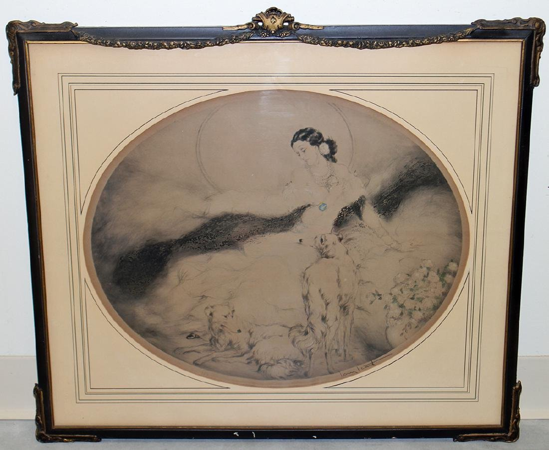 """LOUIS ICART """"LADY OF THE CAMELIAS"""" ETCHING"""