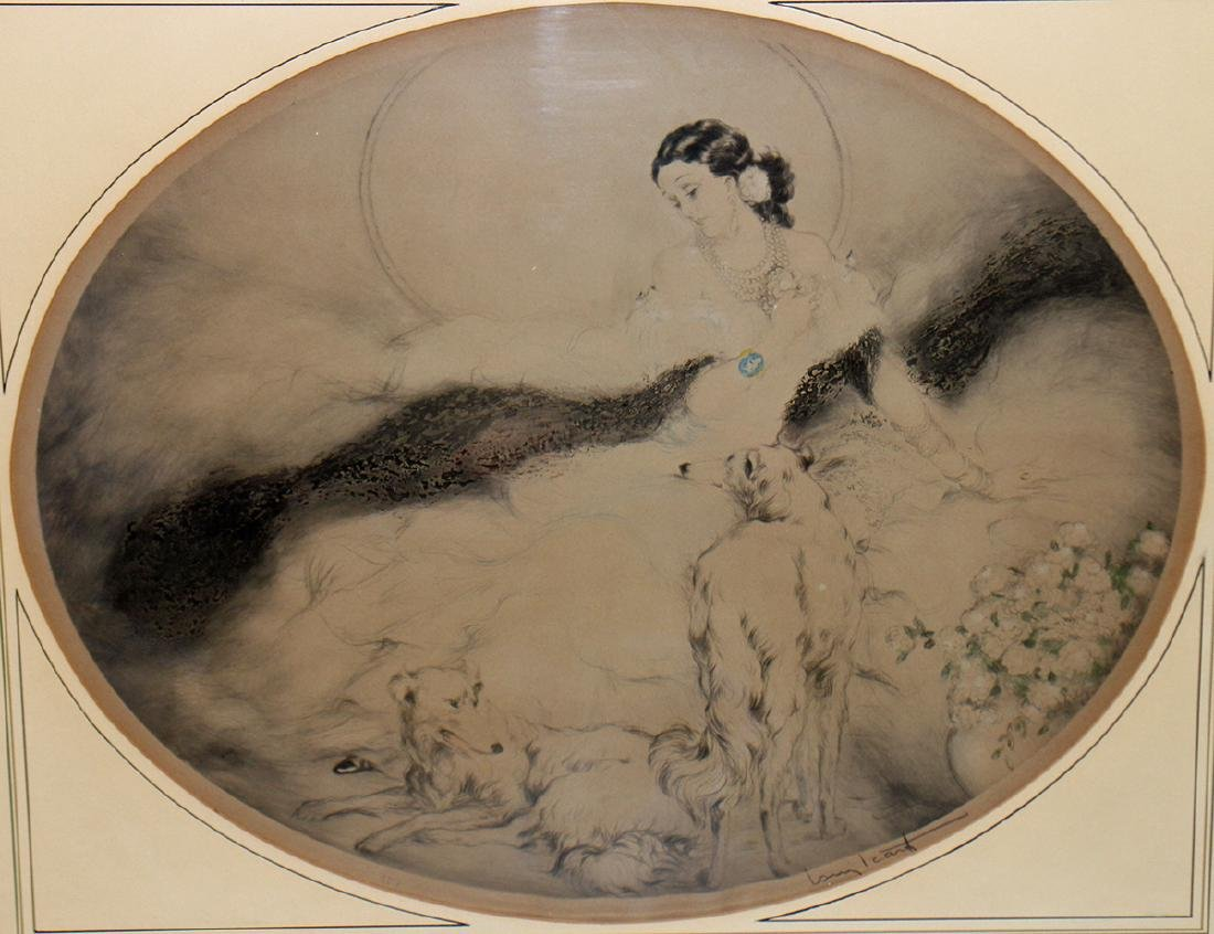 """LOUIS ICART """"LADY OF THE CAMELIAS"""" ETCHING - 2"""