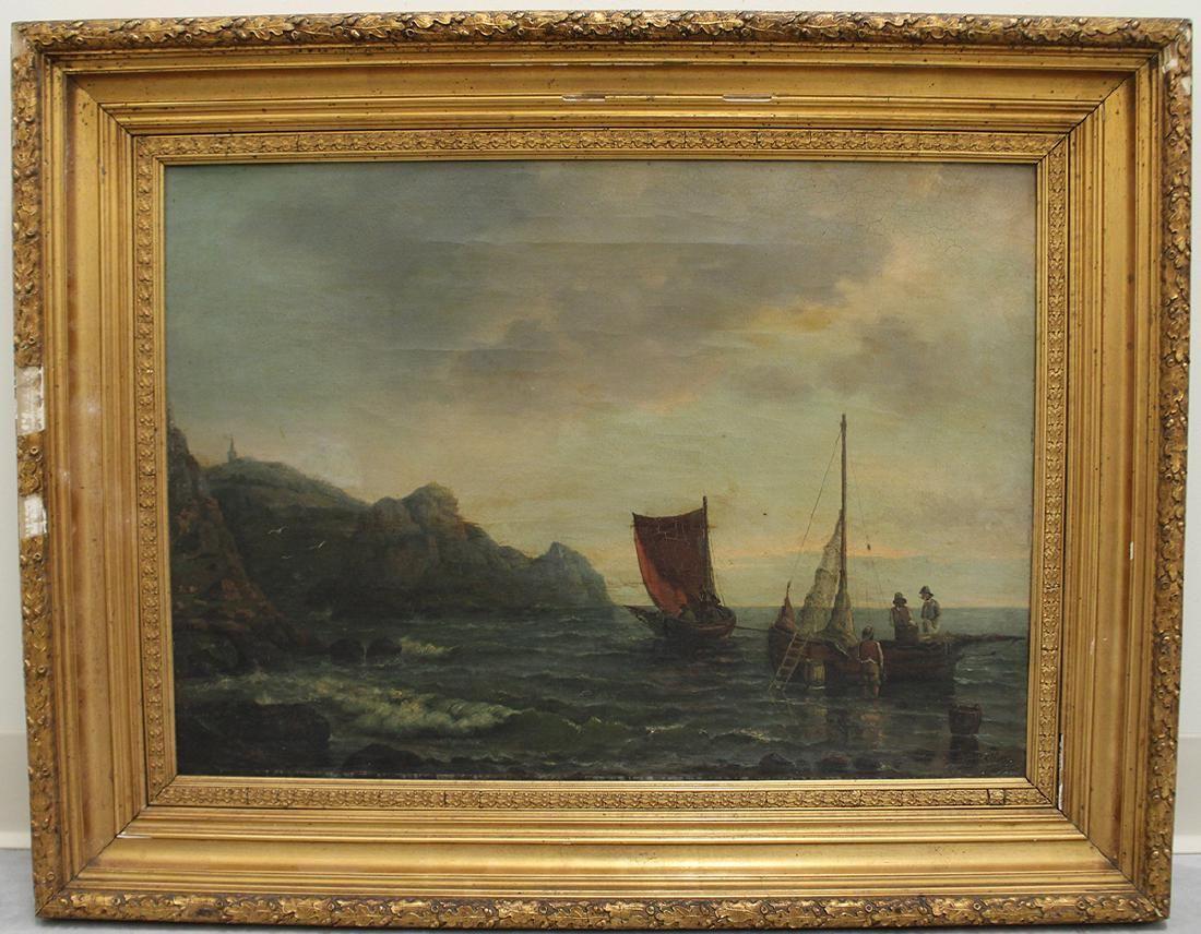 19TH CENTURY SEASCAPE PAINTING - ETLAR