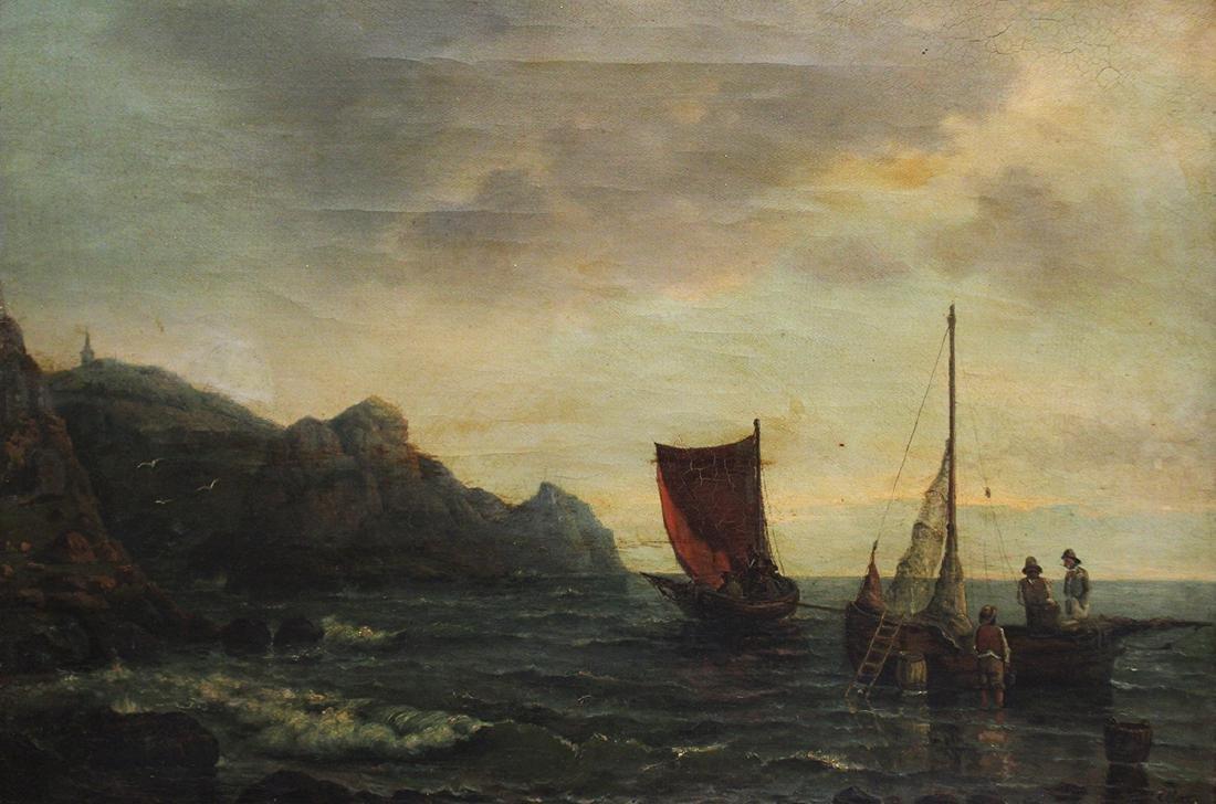 19TH CENTURY SEASCAPE PAINTING - ETLAR - 2
