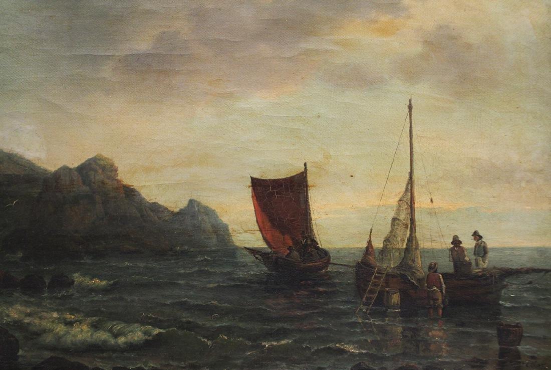 19TH CENTURY SEASCAPE PAINTING - ETLAR - 3