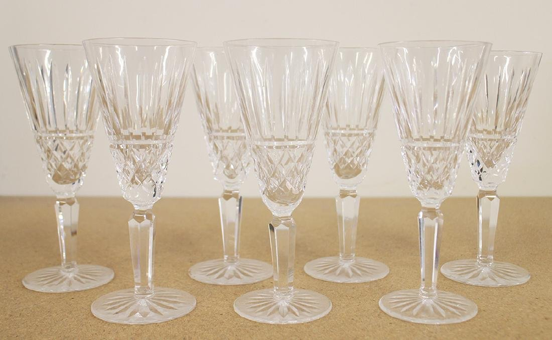 (7) WATERFORD CRYSTAL CHAMPAGNE FLUTES - MAEVE