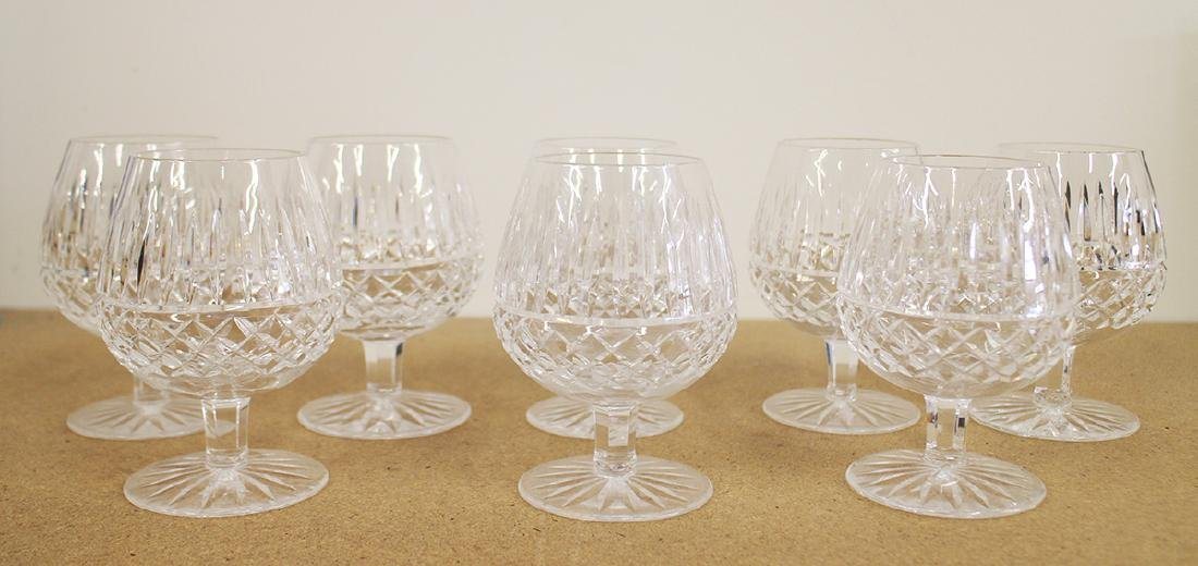 (8) WATERFORD CRYSTAL BRANDY GLASSES - MAEVE