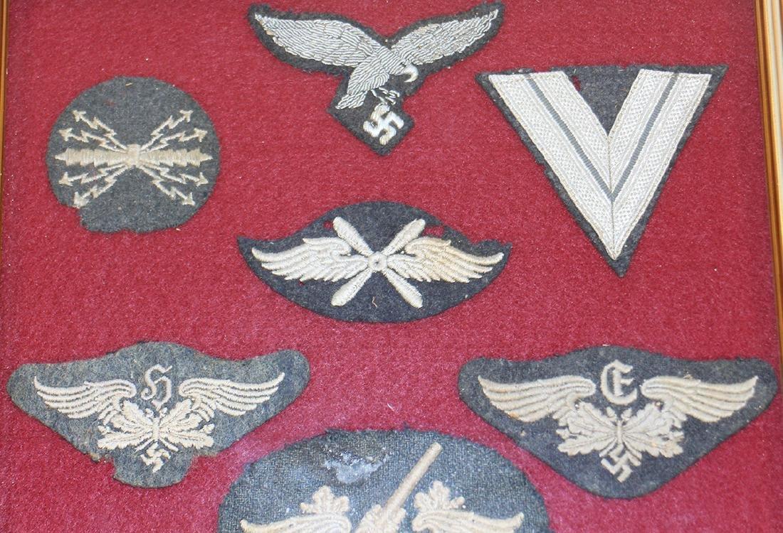 FRAMED WWII NAZI INSIGNIA - 2
