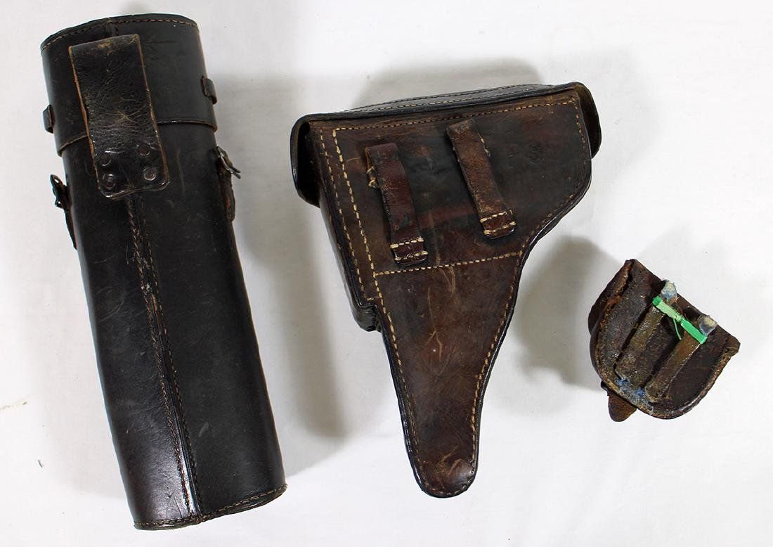 WWII GERMAN NAZI P38 PISTOL HOLSTER & MAP CASE - 2