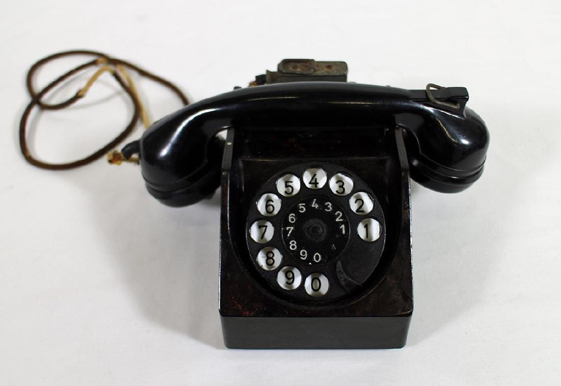 WWII GERMAN BAKELITE TELEPHONE AMSTANSCHLIEBER 33