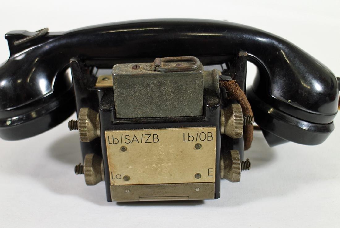 WWII GERMAN BAKELITE TELEPHONE AMSTANSCHLIEBER 33 - 4