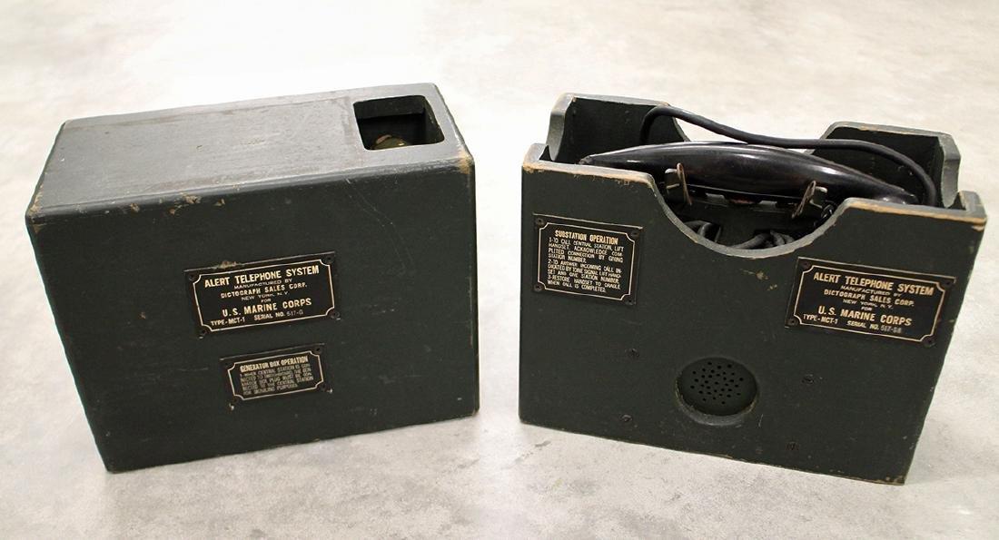 WWII U.S. MARINE CORPS ALERT TELEPHONE SYSTEM