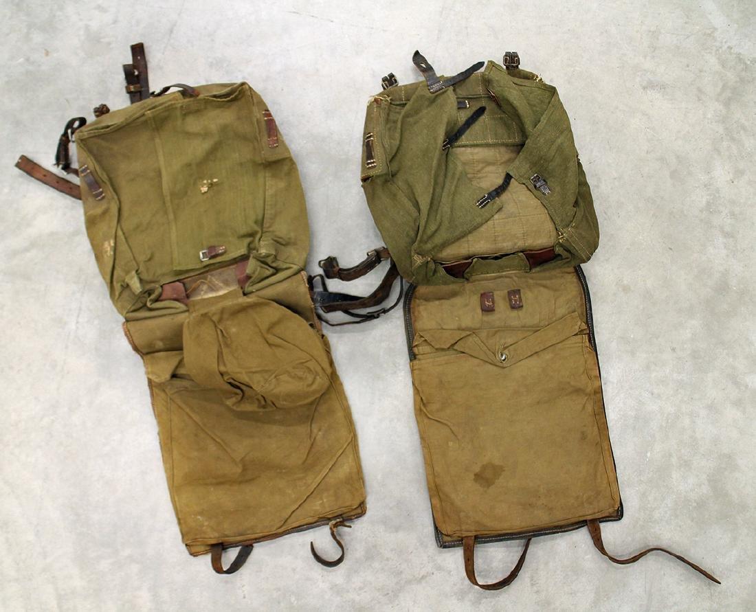 (2) WWII GERMAN RUCKSACK ALBIN SCHOLLE ZEITZ - 3