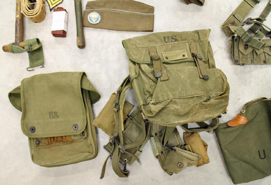 WWII US ARMY FIELD GEAR, JACKET, HELMET & MORE - 2