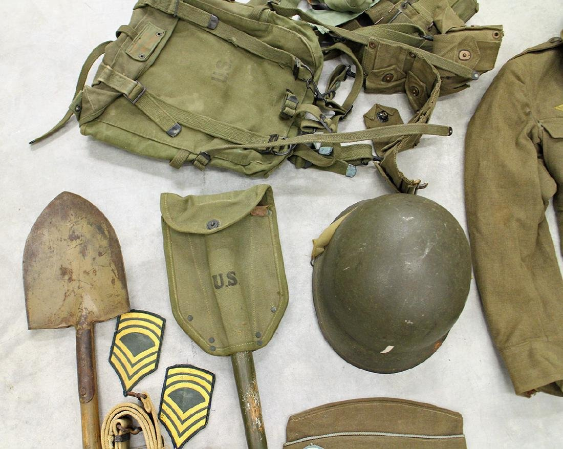 WWII US ARMY FIELD GEAR, JACKET, HELMET & MORE - 4
