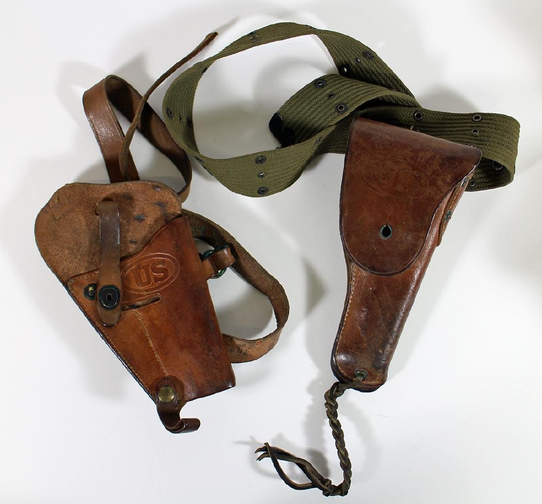 (2) WWII US MILITARY HOLSTERS - BOYT & ENGER-KRESS