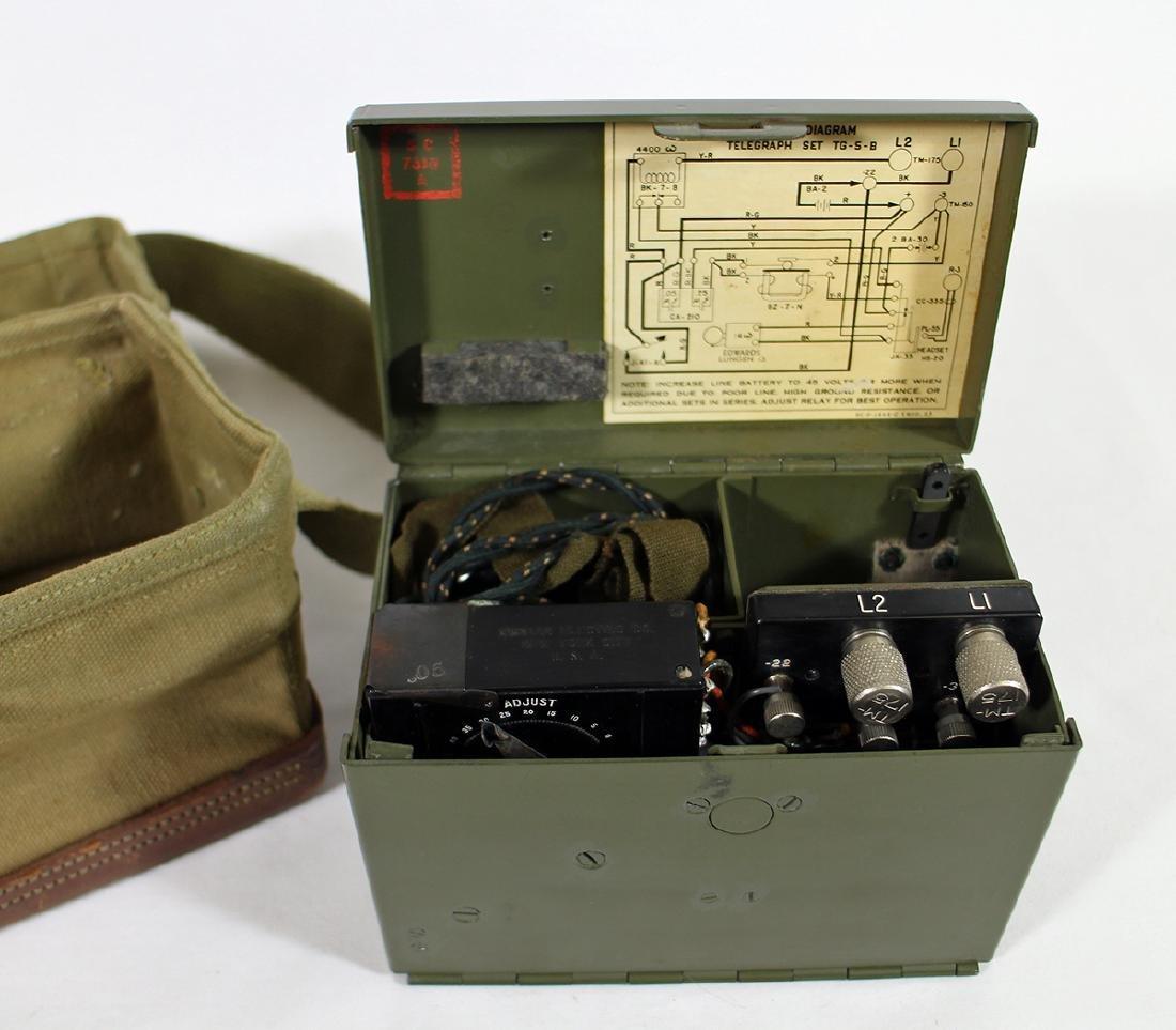 US ARMY SIGNAL CORPS TELEGRAPH SET TG-5-B - 2