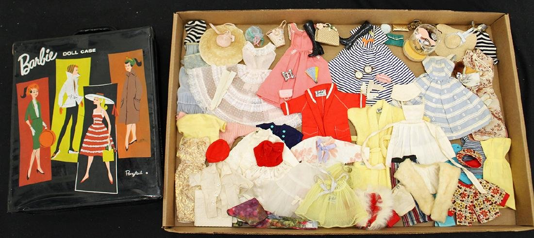 VINTAGE 1960's BARBIE CLOTHES, ACCESSORIES & CASE