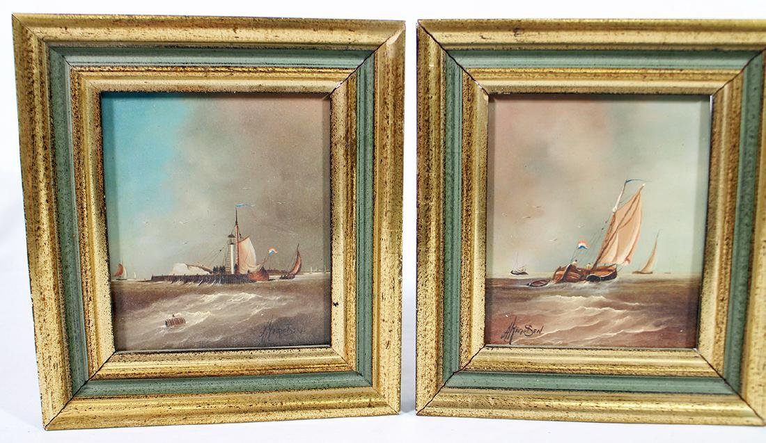 (3) DUTCH SHIP PAINTINGS - 2